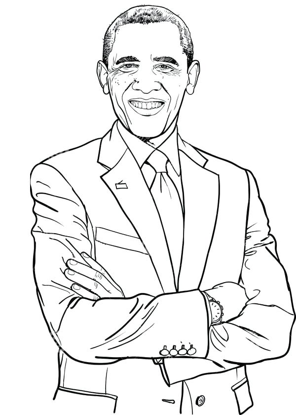 600x840 Barack Obama Coloring Page Awesome Coloring Page For Free Coloring