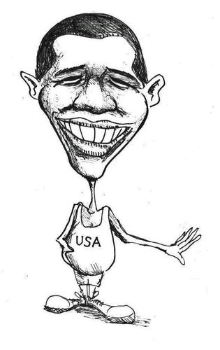 315x500 Barak Obama By Urbanmonk Politics Cartoon Toonpool