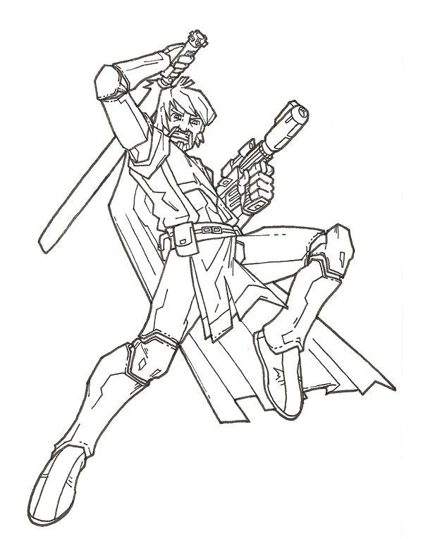 Superb 600x765 Obi Wan Kenobi Coloring Pages Clone Wars Obi Wan By On Obi Wan