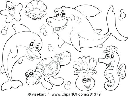 Ocean Animals Drawing at GetDrawings.com | Free for personal use ...