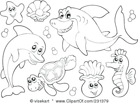 450x340 Marine Coloring Page Download Coloring Page With Sea Scene Marine
