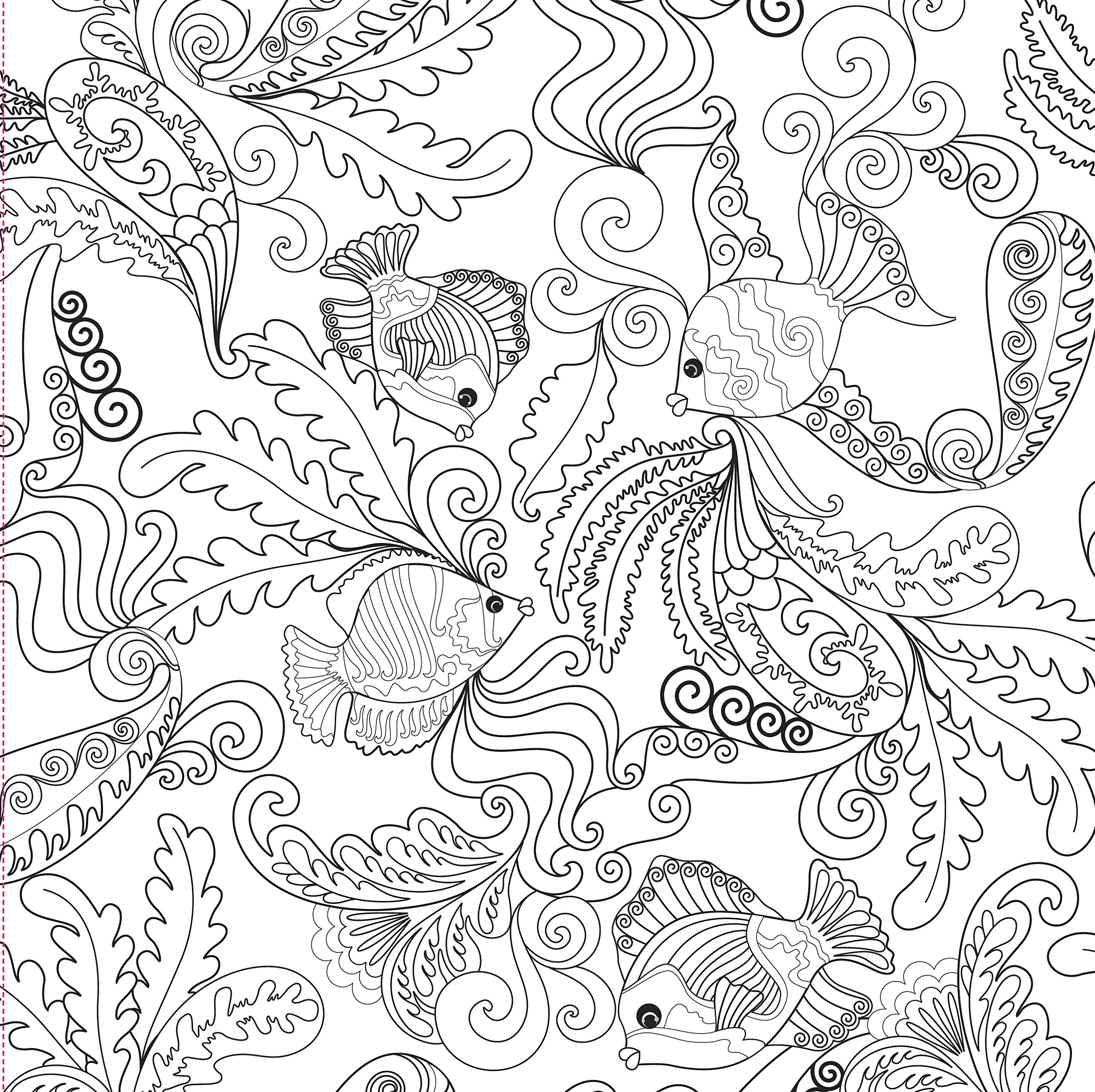 2560x2554 Ocean Designs Adult Coloring Book (31 Stress Relieving Designs