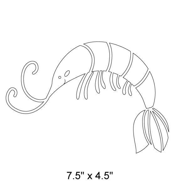 600x600 Shrimp Stencil Ocean Mural, Wall Stenciling And Stenciling