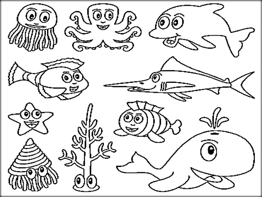 pond ecosystem coloring pages | Ocean Ecosystem Drawing at GetDrawings.com | Free for ...