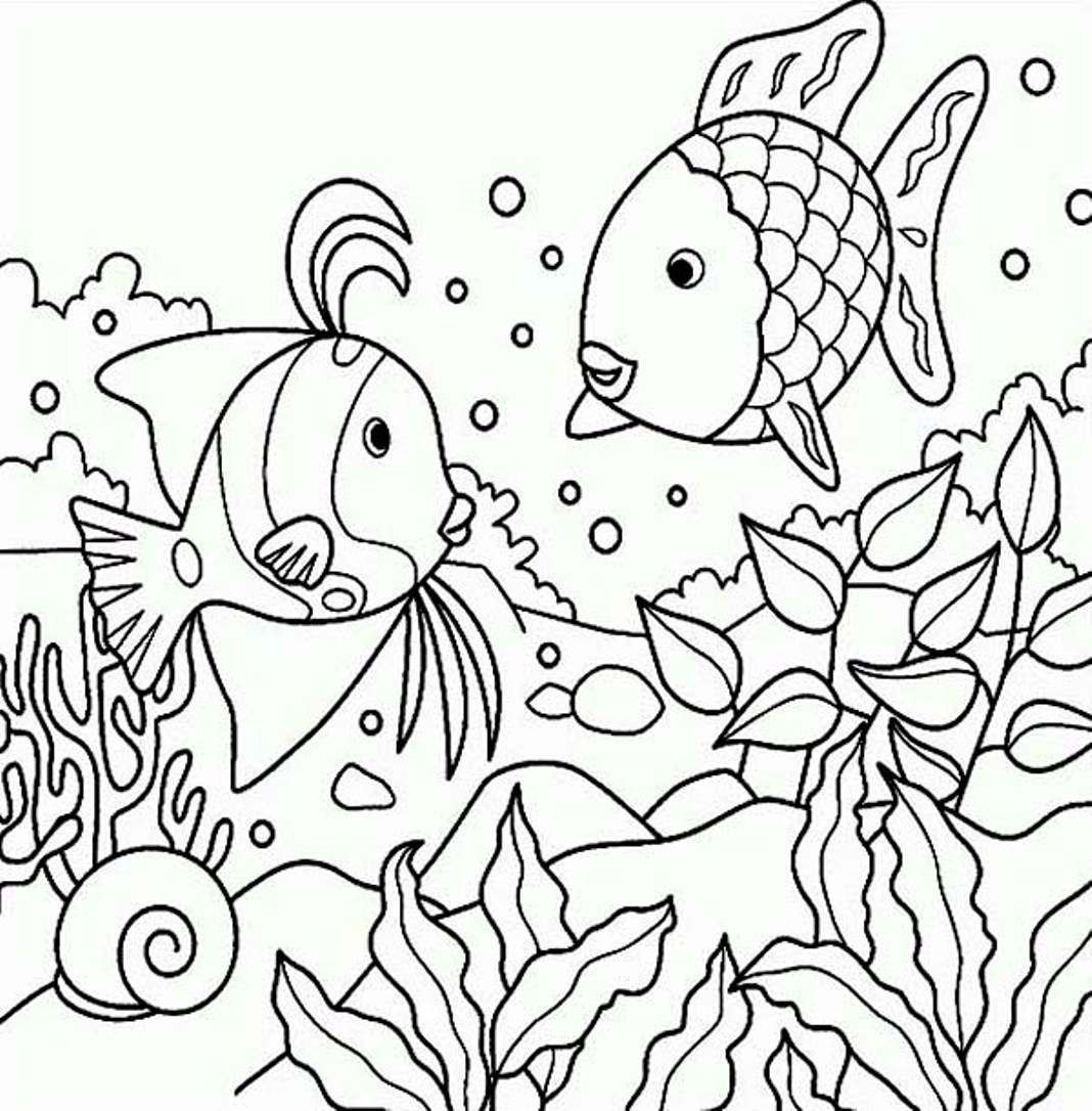 ocean life coloring pages. coloring pages of fish in the ocean ...