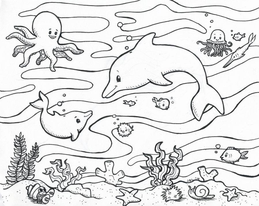 Ocean Life Drawing at GetDrawings.com | Free for personal use Ocean ...