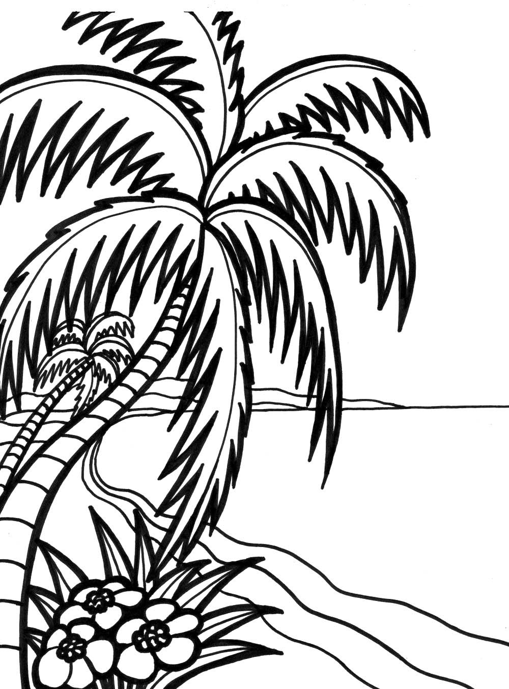 1000x1354 Ocean Waves Coloring Page Free Download