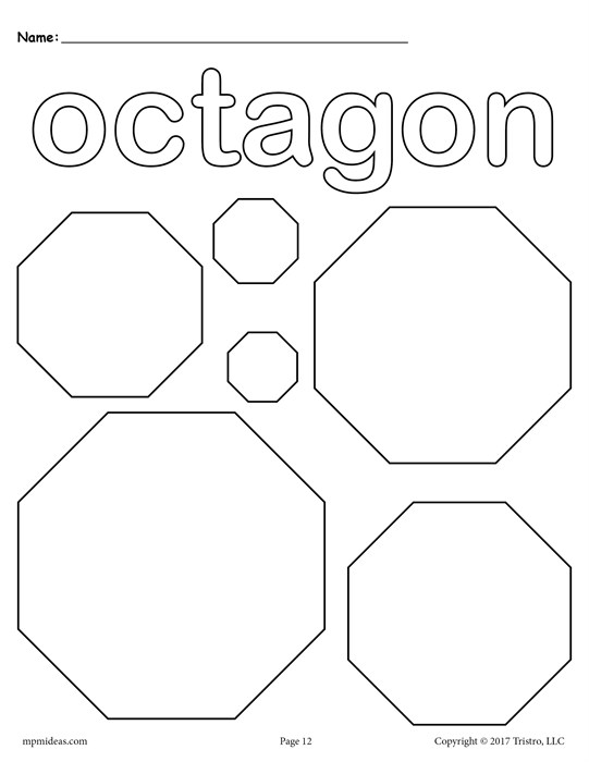 541x700 Free Octagons Coloring Page