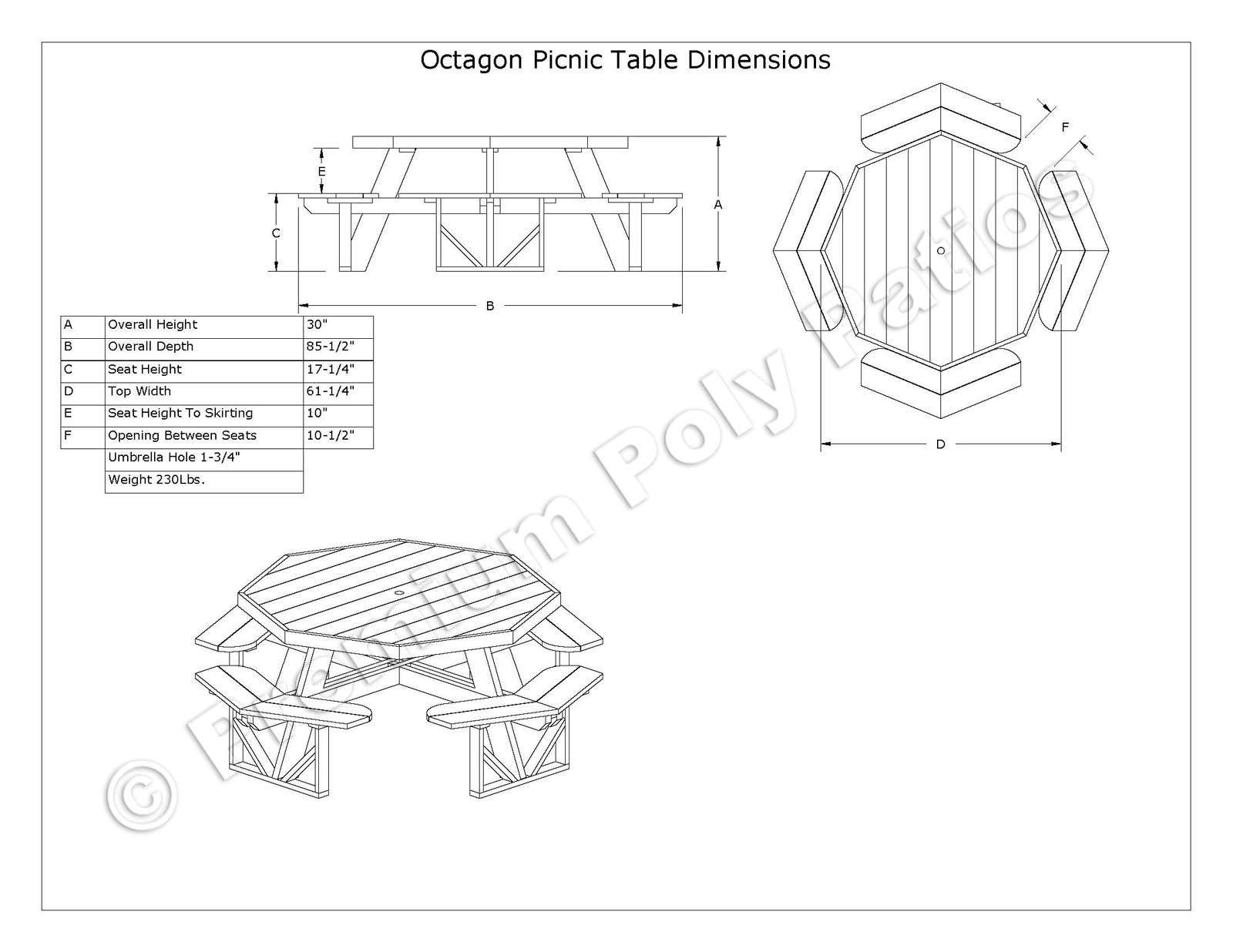1600x1236 Octagon Picnic Table Plans And Drawings Best Table Decoration