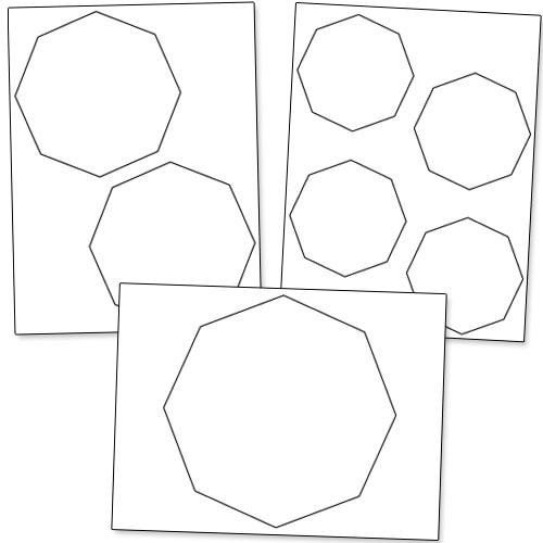 500x500 Printable Octagon Shape Cutouts Printable