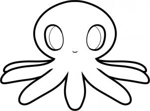302x224 How To Draw How To Draw An Octopus For Kids