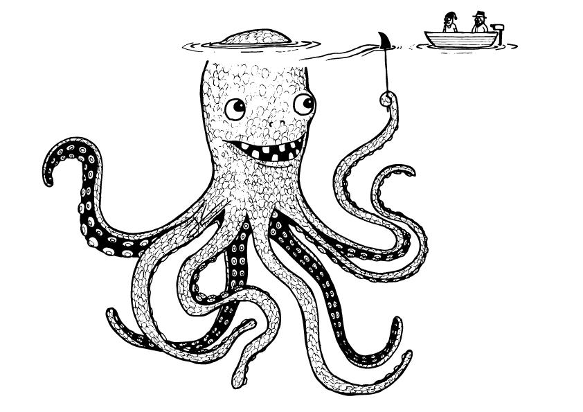 842x595 Octopus Drawing Jonas Claesson