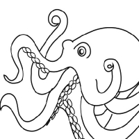 200x200 Drawing Octopus