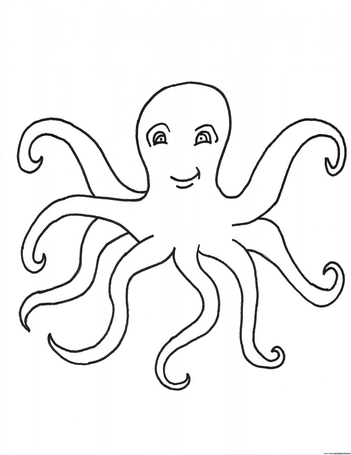 695x900 Octopus Coloring Pages