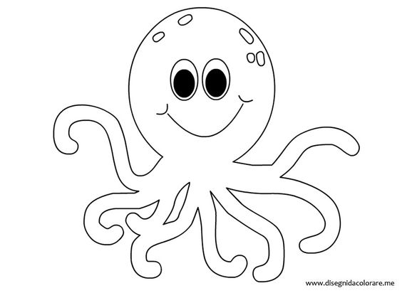 image relating to Octopus Template Printable known as Octopus Define Drawing at  No cost for