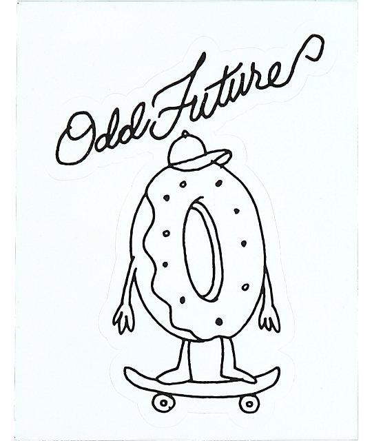 540x640 Odd Future Skating Sticker Zumiez