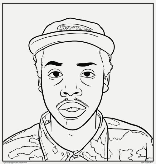 500x527 Earl Sweatshirt Drawing
