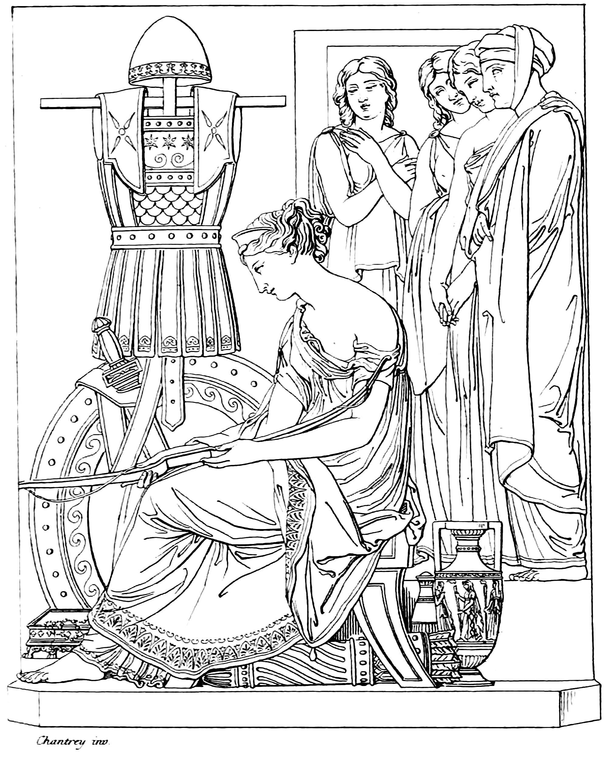 2000x2506 Penelope Sitting With Odysseus S Armo Francis Chantrey Ancient