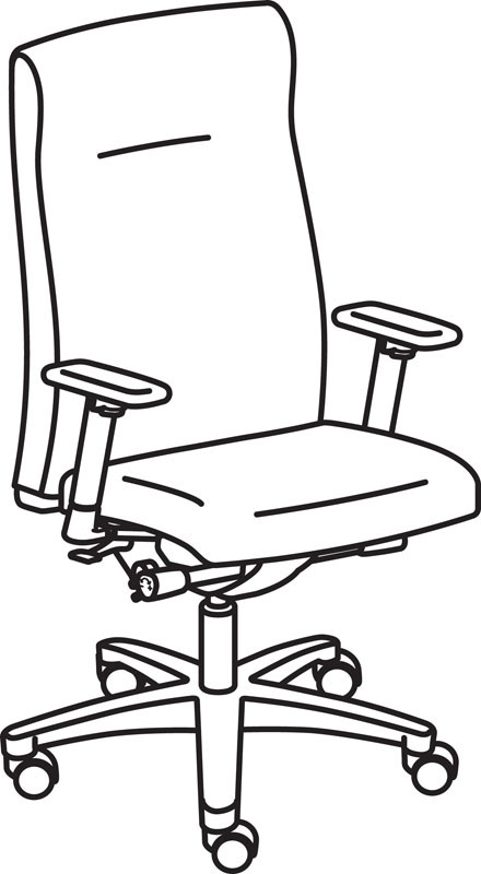 440x800 Hon Ignition Executive Pneumatic High Back Office Chair