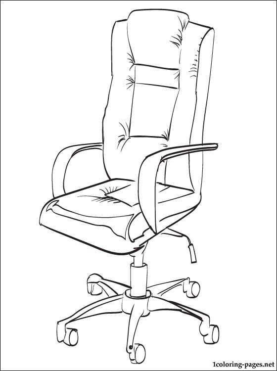 560x750 Office Chair Coloring Page Coloring Pages