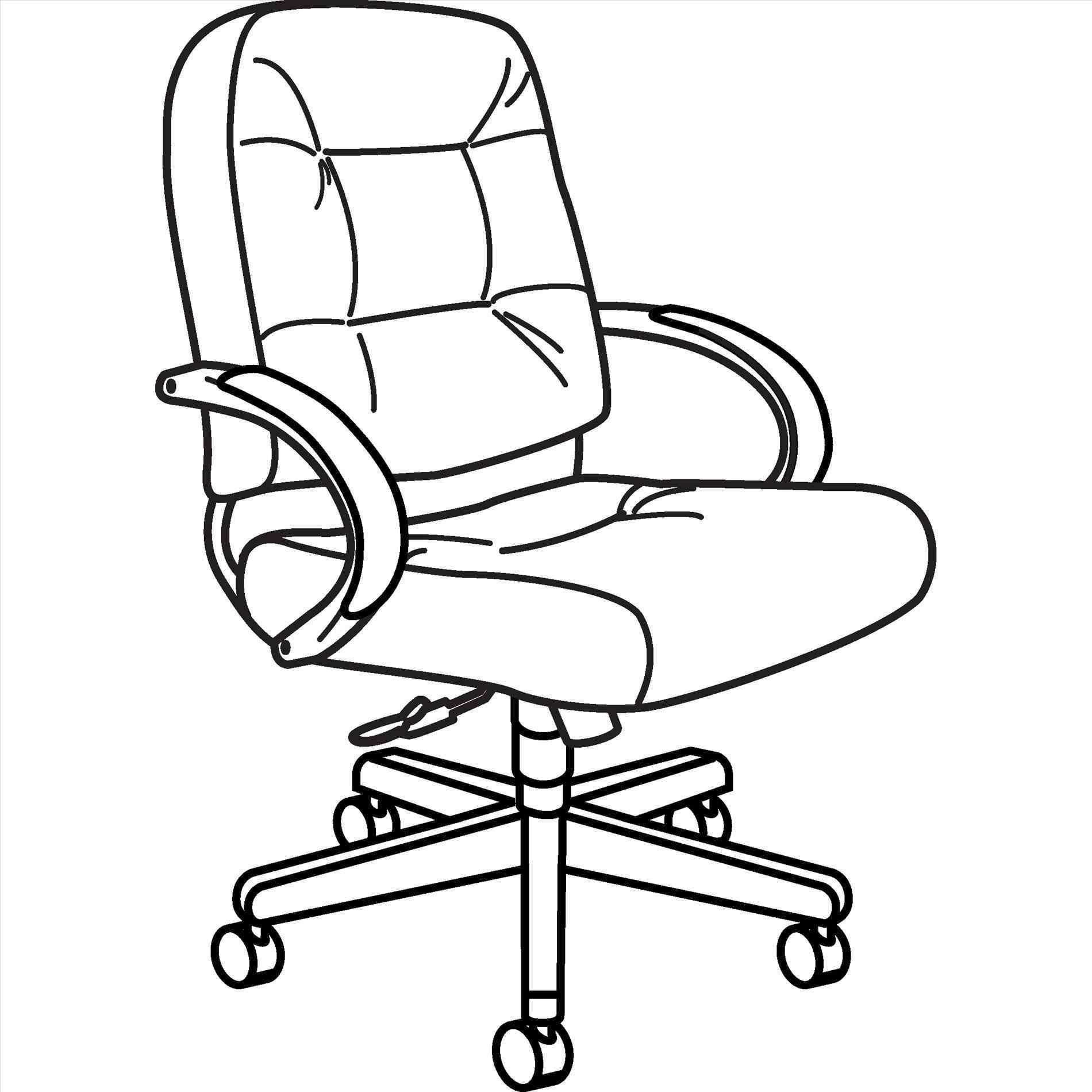 1900x1900 Office Chair Drawing