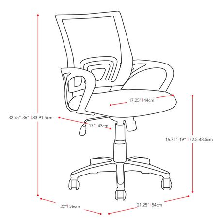 460x460 Corliving Workspace Mesh Back Office Chair Walmart Canada