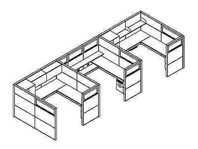 400x301 Matrix Modern Collaborative Office Modular Workstationdesktable