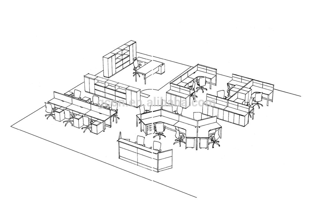 1000x682 New Design Kd Structure Office Furniture Four People Office
