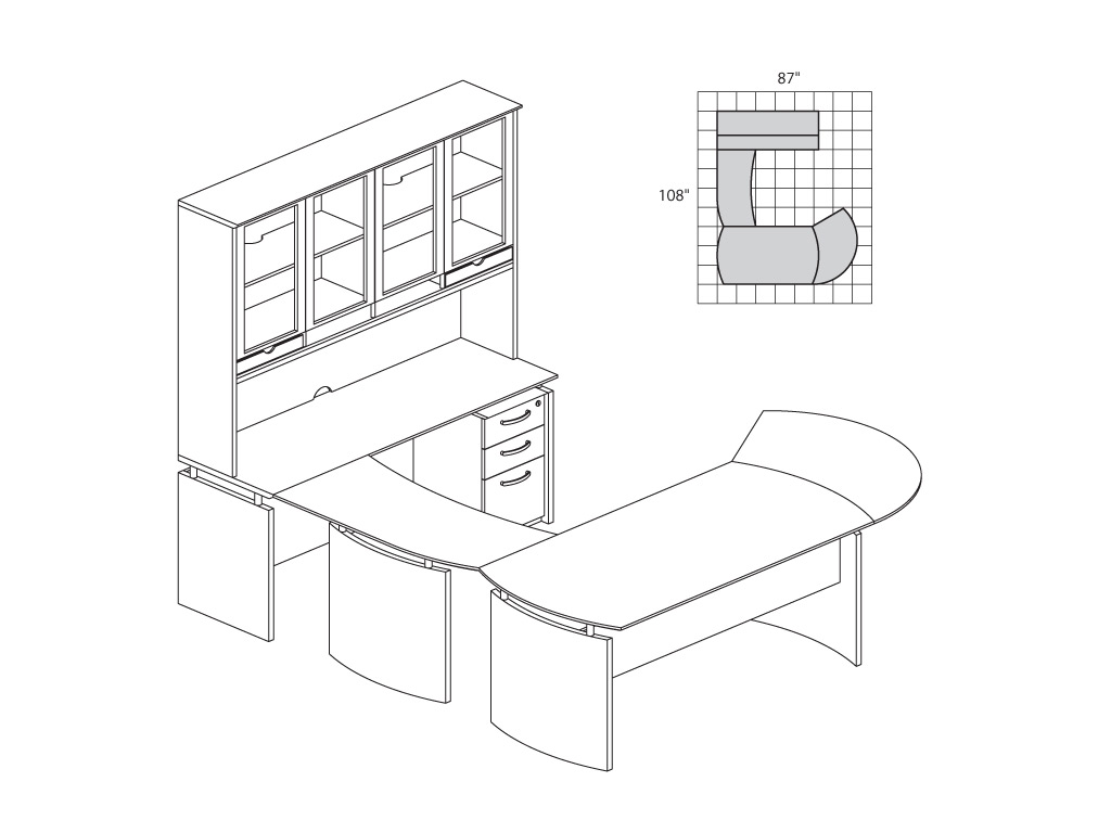 1024x768 Solid Wood Office Furniture