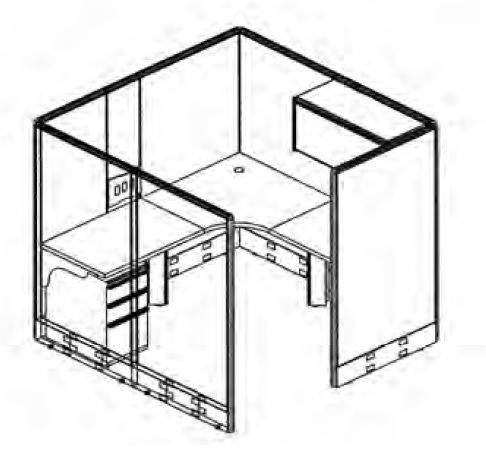 486x451 The Office Leader. 72 X 72 L Shape Private Cubicle Office Desk
