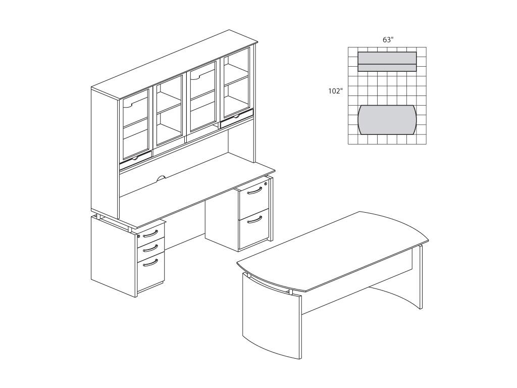 1024x768 Dark Wood Desk