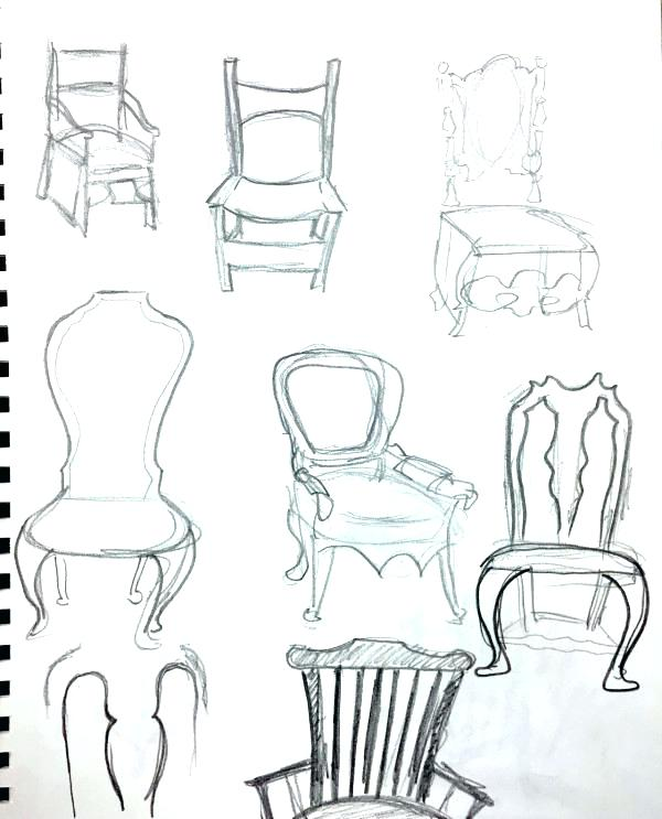 600x743 Office Chair Design Sketch The Drawing 3 Bathroom Cabinet