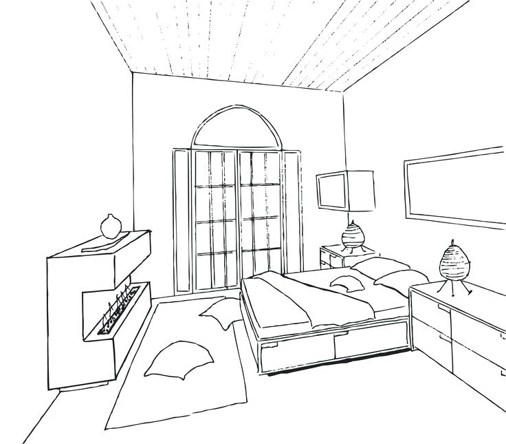 736x645 Interior Design Bedroom Sketches Betweenthepages.club
