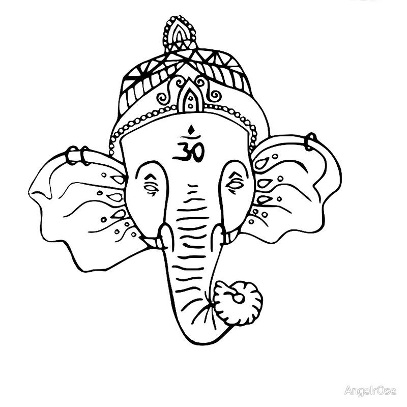 800x800 Buddhist Elephant Drawstring Bags By Angelr0se Redbubble