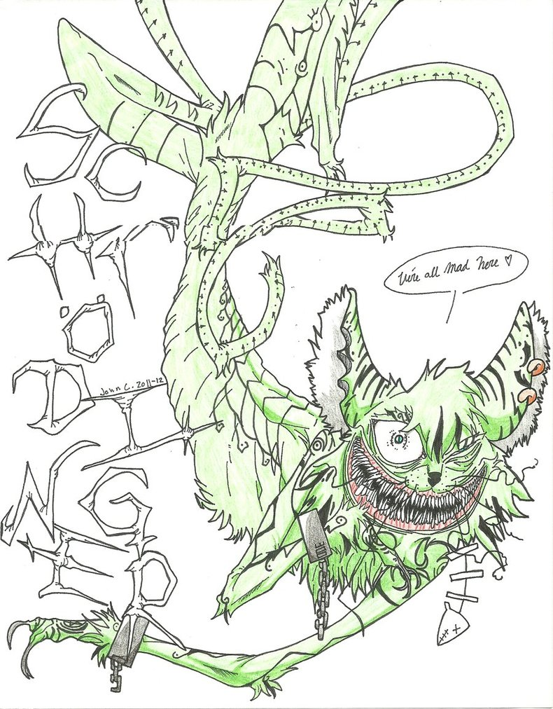 790x1012 A Feral, Grinning Cat By Skellington1