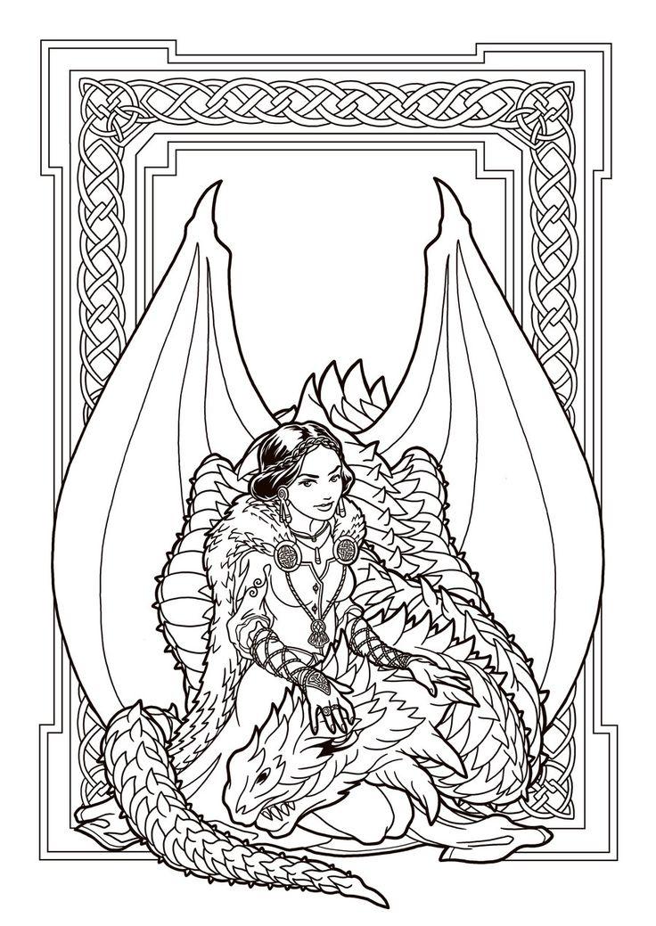 736x1039 Dragon Wolf Odd Coloring