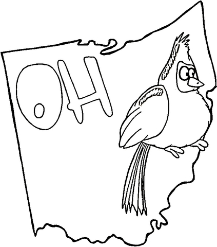 423x480 Ohio Coloring Page Free Printable Pages