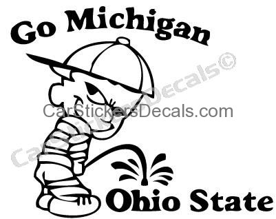 401x318 Michigan Pee On Ohio State Sticker Amp Decal