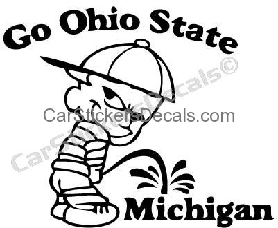 401x330 Ohio State Pee On Michigan Sticker Amp Decal