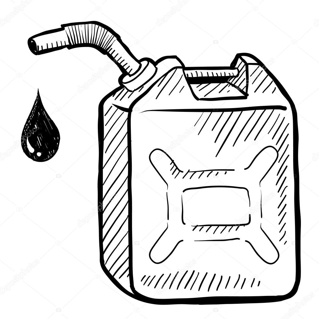 1024x1024 Gasoline Can Sketch Stock Vector Lhfgraphics
