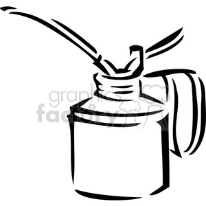 300x300 Royalty Free Black And White Oil Can 384937 Vector Clip Art Image