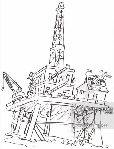 Oil Derrick Drawing
