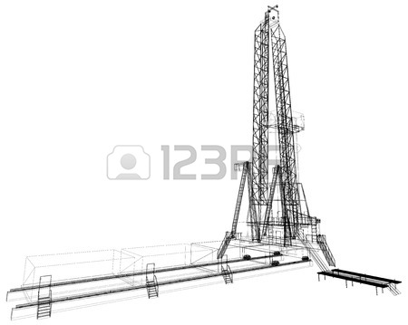 450x359 Engineering Drawing Drive Submersible Oil Pump Plunger Vector