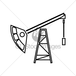 325x325 Oil Rig Icon Gl Stock Images