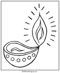 236x289 Diwali Colouring Pages Diwali Diya, Diwali And Oil