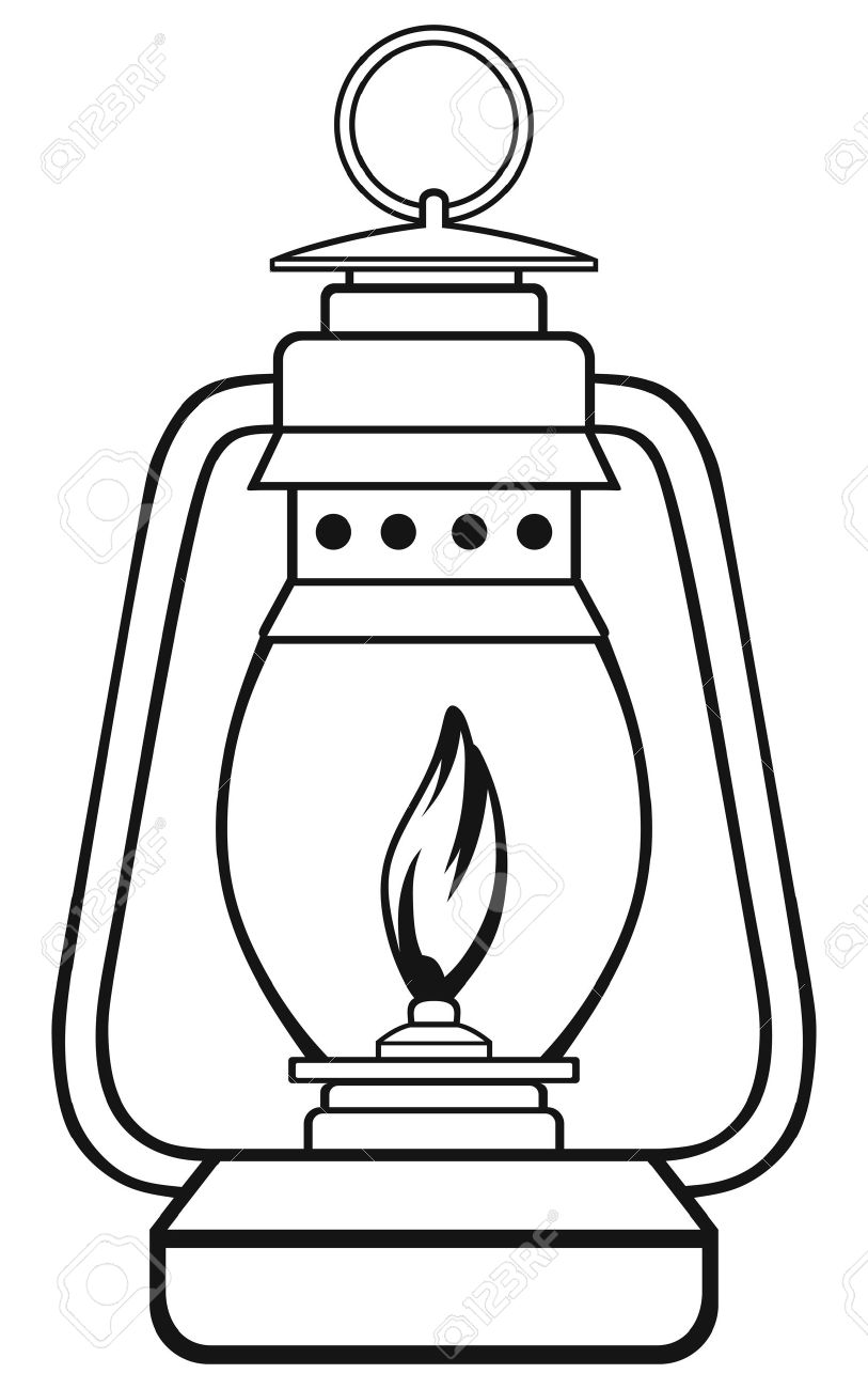 813x1300 Symbol Old Dusty Oil Lamp Royalty Free Cliparts, Vectors,