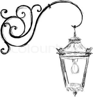 306x320 Antique Old Kerosene Lamp Isolated On A White Background
