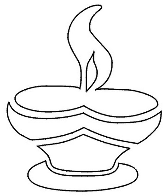 570x665 Diwali Colouring Pages