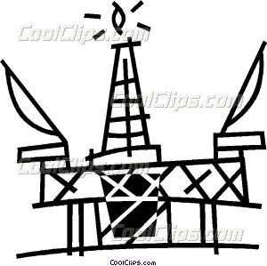 300x299 Offshore Drilling Platform Vector Clip Art