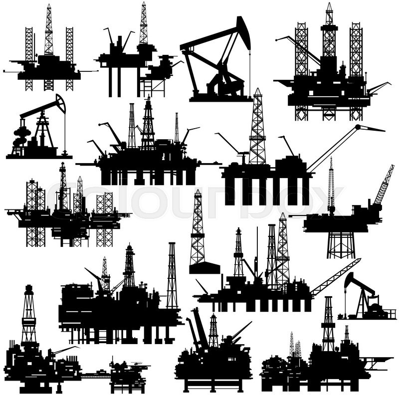 800x800 Drilling Rigsnd Pumps For Oil Extraction. The Illustration On
